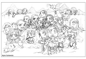 Game of Thrones Winter is Coming Cleaned Pencils by AgnesGarbowska