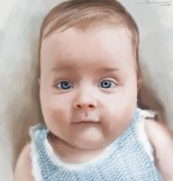 baby digital painting by AtomiccircuS