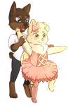 Commission: Pommi and dozier by foxhat94
