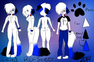 Delta Anthro Reference 2014 by Delta-kitty