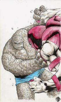 The Thing vs. Juggernaut by BrettBarkley