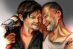 Daryl and Merle -The Walking Dead - by Pastenaga