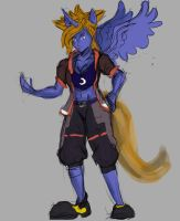 fusion of Sora from KH and Princess Luna from Mlp by undeadpenguin37