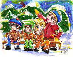 .::south park boys::. by PinkAngelChao