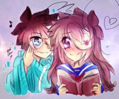 [Doodle] Virus!Cry x Fem!Cry by Nadi-Chan