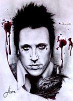 Jacoby Shaddix drawing by floratothart