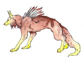 Dog Character Concept by MaiaCarlson colored by GammaLykos