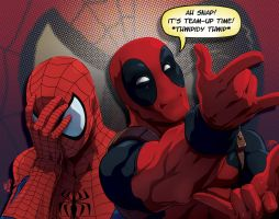 Spidey DeadPool: Ah Snap by FooRay
