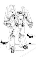 Osprey V-22 mecha inks by Mecha-Zone