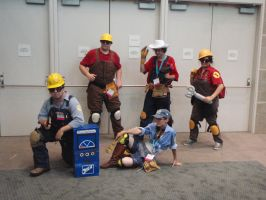 Engineer cosplayers by stormx6