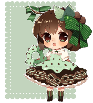 Pretzel Crisp: Mint Chocolate Chip gijinka* by Hinausa