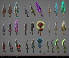Magic Daggers Concepts by Vakon-art