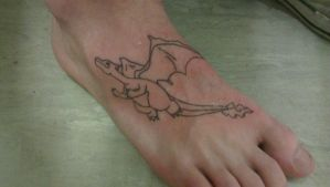 I tattooed a Charizard on my foot... by Crazydude165