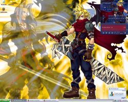 Cloud-Sephiroth Desktop by arch-lucifer