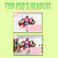 Two psd's headers. by CandyBiebs