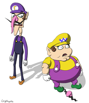 Wario lost his nose by LargeStupidity