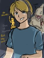 Pewdie and the Bro by scorpioSerket