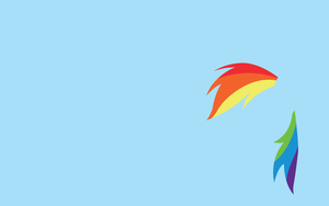 Rainbow Dash Minimal Wallpaper [1280x800] by Doovid97