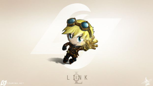 CLG chibi Link as Ezreal by MaTTcomGO