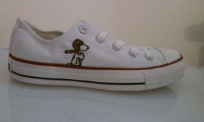 Snoopy Shoes by blingingjak