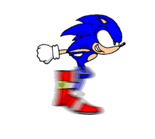 Sonic Running by Adam-Novagen