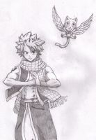 Natsu and Happy by Jasian1