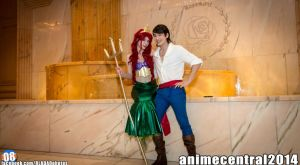 Girlfriend and I as Ariel, and Eric at ACEN 2014. by ItsYoru