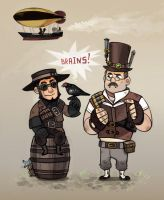 Steampunked chibies by Kethavel