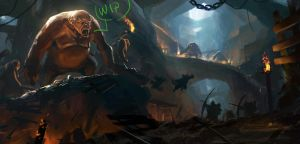 Kicked out of our burrow - WIP - step1 by Grosnez