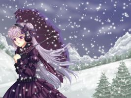 Snowflakes and Silver Hair by Tetiel