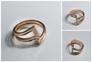 Emma's ring, 14k gold ring by doronmerav
