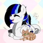Mlp: Blacky with her cats :3 by BlackTempestBrony