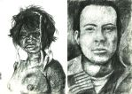 Charcoal Portraits by Kharen94th
