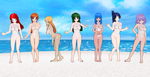 7 OCs translucent swimwear by quamp