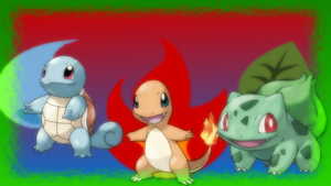 Kanto Starters Wallpaper by SailorTrekkie92