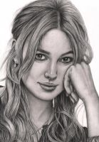 'Keira Knightly' graphite portrait (no background) by Pen-Tacular-Artist