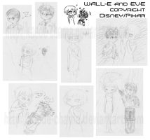 moar wall-e sketches 8D by Kaede-chama
