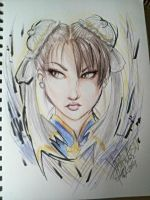 Chun Li's Face by Kiki4rich