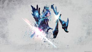 League of Legends - Frostblade Irelia Wallpaper by Soinnes