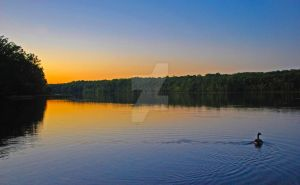 Sunset on the Lake by catilakbluez