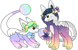 celest and lexy by goomys