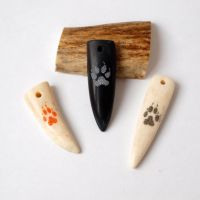 Antler fangs.Scrimshaw. Wolf paws by BDSart