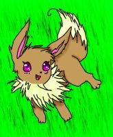Eevee in the grass by ClannadLover22
