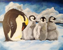 Penguins by carlyscanvas