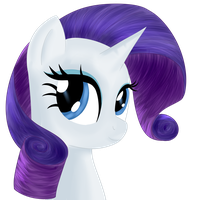 Rarity Portrait by Dragonfoorm