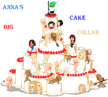 Anna's Big Cake Collab by DreamingLionesse