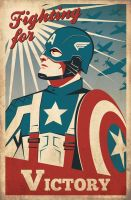 Captain America Retro Poster by Zenithuk