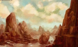red mountains by wendichen