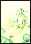 keeper of time Celebi by Frog-of-Rock