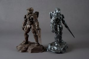Halo 4 Master Chief Bronze And Silver by xar8